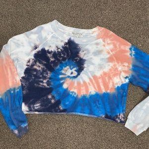Wild fox tie dye sweatshirt